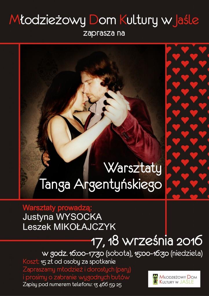 tango argentyńskie - plakat